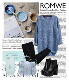 """""""Romwe"""" by elmaa02104 ❤ liked on Polyvore featuring Tiffany & Co., COSTUME NATIONAL, STELLA McCARTNEY and Ella Rabener"""