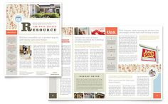 Real Estate Home for Sale Newsletter - Word & Publisher Template