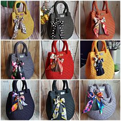 Crochet Cat Pattern, Crochet Patterns, Crochet Rope, Knit Crochet, Embroidery Suits Punjabi, Crochet Handbags, Leather Tassel, Knitted Bags, Large Bags