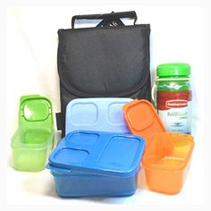 INSULATED Lunch Bag with Rubbermaid Lunch BLOX Sandwich Kit and Drink Bottle BUNDLE  BLACK * Want additional info? Click on the image.-It is an affiliate link to Amazon.