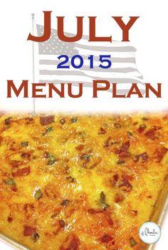 July 2015 Menu Plan