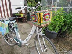 Crochet bike basket