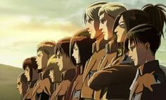 Levi | Hanji | Erwin | Mike | Mikasa | Eren | Armin | Jean | Sasha | Connie | Shingeki no Kyojin | Attack on titan | SNK