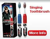 "Say what you will about Justin Bieber, but this toothbrush makes my 7yo remember to brush! ""Baby, baby, baby, oh..."""