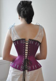 Before the Automobile: 1880's corset and a chemise with ball gown neckline