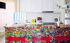 here's an idea to get rid of all those old legos laying around!!!!  LEGO Styled Kitchen by Simon Pillard and Philippe Rosetti