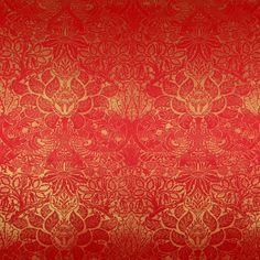Grunge Floral Red And Gold Effect background