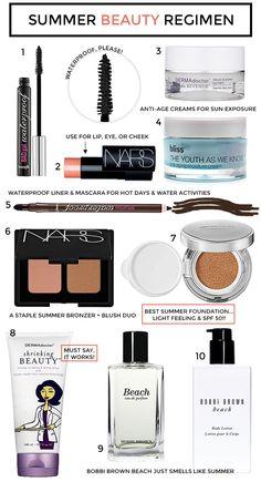 Summer Beauty Regimen @Vanessa Samurio Walker Cosmetics @DERMAdoctor Skincare Skincare Skincare @Katie Hrubec T. pacific + more