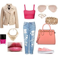 """Pink inspired"" by milky-silvers on Polyvore"