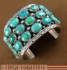 Navajo Indian Turquoise Cuff Bracelet