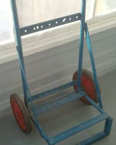 Dolly Two Wheel Cart Metal Dolly Industrial by RhymeswithDaughter