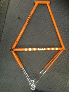 Mercian frame .., ready for a rebuild .. Doctor Sprockets Workshop  Www.doctorsprocket.com