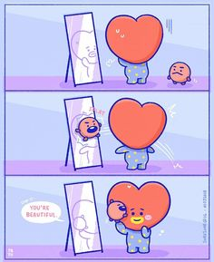 "6,143 Likes, 72 Comments - PATU (@soresoar) on Instagram: ""Don't think so hard, Koya :,) ♡ #BT21 #BTS #bt21fanart #comic #bt21koya #bt21shooky #yoongi…"""