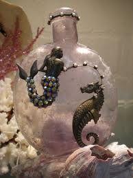 vintage bottle mermaid♥