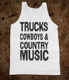 Trucks Cowboys Country Music
