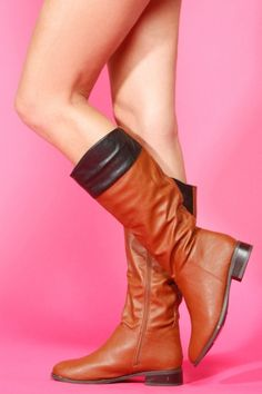 Two Tone Knee High Boots.
