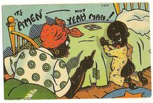 "Black Americana ""It's Amen, not Yeah Man!""  Postcard"
