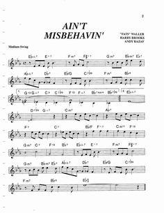 Jazz Standard Realbook chart AIN'T MISBEHAVIN