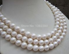 >> Click to Buy << New hot!10-11mm White pearl long necklace 54 inch 3 piece/lot DIY handmade women Beautiful jewelry making design #Affiliate