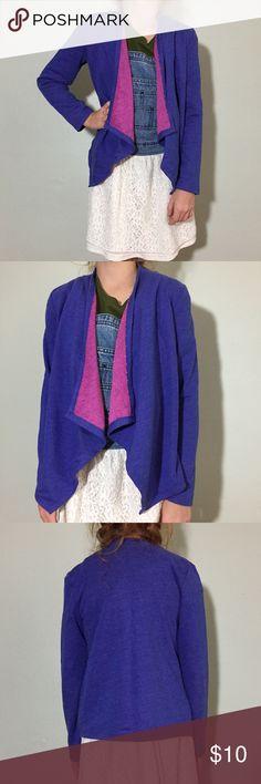 "Check Purple Sweatshirt Drape Front Cardi Check Purple Sweatshirt Drape Front Cardi. In great condition. Size Girls M (7/8) measures flat: 13"" across shoulders, 16"" across chest, 17"" long, 19"" sleeve. 71% cotton, 29% poly. 2014 Circo Shirts & Tops Sweatshirts & Hoodies"