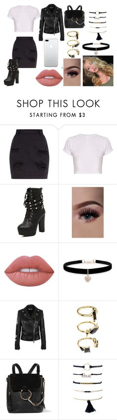 """Sem título #337"" by agatha-silveira on Polyvore featuring Lime Crime, Betsey Johnson, Versus, Noir Jewelry e Chloé"