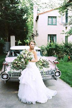 bride and getaway car