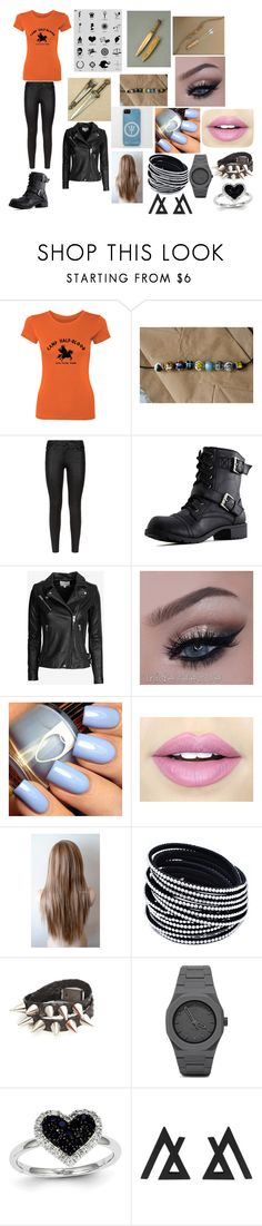 """""""camp half blood"""" by rossyelizabethmendez ❤ liked on Polyvore featuring beauty, Mele, 7 For All Mankind, IRO, Fiebiger, CC and Kevin Jewelers"""