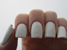 white nails--