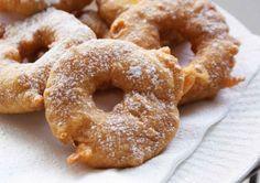 "Spiced Apple or Pear Fritter ""Doughnuts"" for Hanukkah"