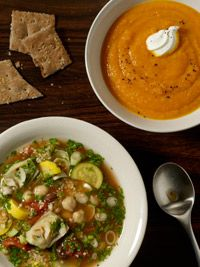 Gingered sweet potato and carrot soup