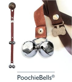 PoochieBells® Official Site. Proud innovators of the original designer dog doorbell PoochieBells®. We now have grown to a complete family dog product line including USA crafted goods from collars and leashes to hand crafted fine pottery dog bowls. Join our family of passionate dog owners, selecting the best quality products for their pooch and family.