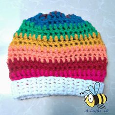 Rainbow slouchy hat free pattern a fun and easy crochet project for