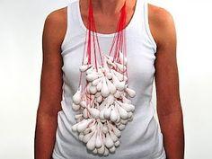 Barbara Deriemaeker  Tear Drops  Belgium, 2010  Necklace  Materials: Porcelain, Cotton Rope