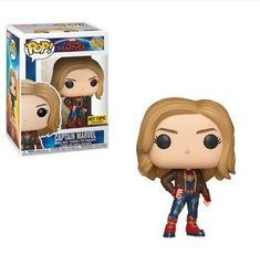 From Captain Marvel, Captain Marvel (styles may vary), as a stylized POP vinyl from Funko! Stylized collectable stands 3 ¾ inches tall, perfect for any Captain Marvel fan! Collect and display all Captain Marvel pop! Funko Pop Marvel, Marvel Pop Vinyl, Captain Marvel, Marvel Avengers, Captain America, Marvel Fan, Marvel Room, Avengers Quotes, Pop Vinyl Figures