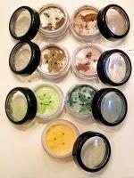 making the base for DIY mineral makeup, interesting!