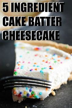 Cake Batter Cheesecake, Cheesecake Recipes, Fluffy Cheesecake, Birthday Cake Cheesecake, Homemade Cheesecake, Classic Cheesecake, Köstliche Desserts, Delicious Desserts, Yummy Food