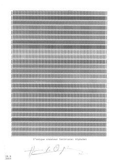 Henri Chopin | l'unique createur lettriste: Alphabet (2003)