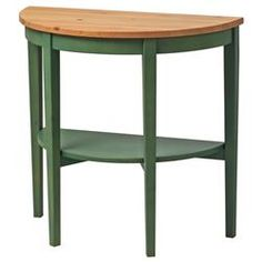 """ARKELSTORP Console table, green (IKEA) (""""Solid wood is a durable natural material. Separate shelf for magazines, etc. helps you keep your things organized and the table top clear. Console Table, Vitrine Ikea, Ikea Solid Wood, Ikea 2014, Table Ikea, Window Table, Side Tables Bedroom, Hallway Designs, Ikea Home"""