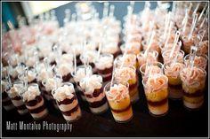 WeddingWire Networking Night Austin, 3/12/2013: Delicious assortment of cake shots provided by Amazing Kakes