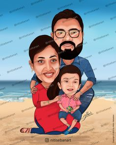 Family caricature, Custom Caricatures illustration from photos, Indian caricature, Caricature Wedding Gifts, Caricature Invite, guests sign in board, kerala couple, baby boy, baby, nitisebanart Wedding Caricature, Caricatures, Kerala, Invite, Wedding Gifts, Disney Characters, Fictional Characters, Baby Boy, Sign