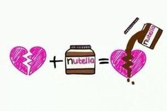 Funny memes Broken heart plus Nutella...