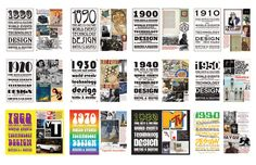 Nice graphical display of the history of Graphic design.  Does that sound redundant?