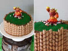 Skylanders Party -- DIY portal cake, sheep cookie pops, scavenger hunt