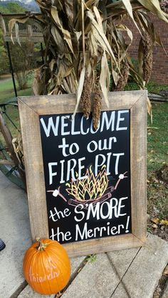 Bonfire party welcome sign