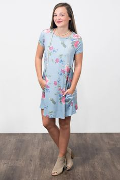 Swing Style Piko Dress in Floral Serenity