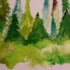 Tableau encre nature sapin