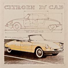 Citroën DS19 Le Caddy by Henri Chapron 1961 (en bas) et 1968 (au-dessus, phares intégrés dans les ailes)