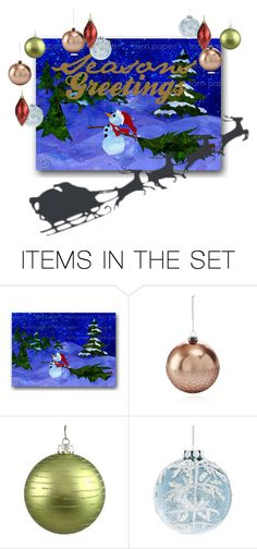 """""""holiday greeting card"""" by astridmarvel ❤ liked on Polyvore featuring art, holidaygreetingcard and PVStyleInsiders"""