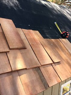 Best How To Install A Cedar Shingle Roof On A Garden Shed 640 x 480
