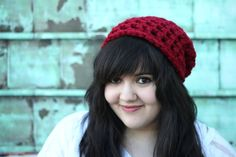My new favorite color! Cranberry Red Slacker Beanie (via Indie Darling shop)